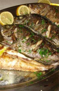 grilled fish plate
